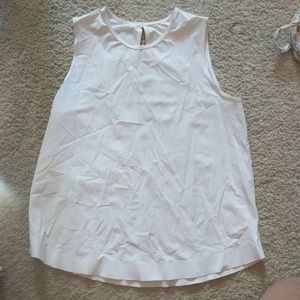 White Lulu muscle tank